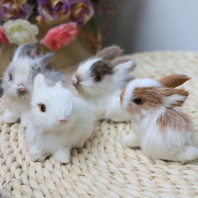 Lovely Simulation Rabbit Animal Doll Plush Stuffed Toy Kids Gift Home Decor Well