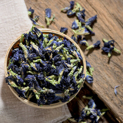 250g 100% Pure Natural Dried Butterfly Pea Tea, Blue Flowers Tea Healthy Drink