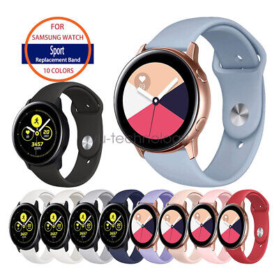 Samsung Galaxy Watch Active / 2 Soft Silicone Sport Watch Band Strap Replacement