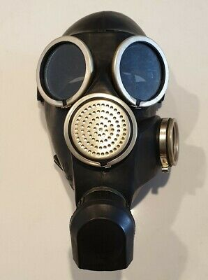 GAS MASK - Russian Black Latex GP-7V Like New (Fetish Kink)