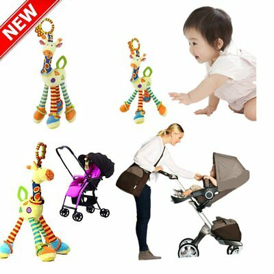 Plush Lovely Giraffe Toy Developmental Interactive Baby Soft Handle Toys UK