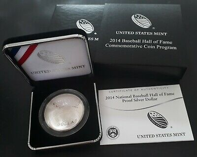 2004 United States Baseball Hall of Fame Proof 26g Silver (.90) Dollar coin