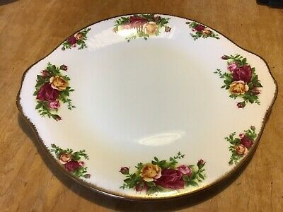 Royal Albert Handled Cake Plate Old Country Roses Made in England