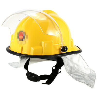 Fire Proof Fireman's Safety Helmet With Goggle Amice Electric Shock Hard Hat Cap