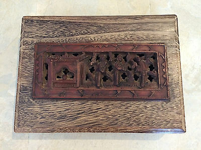 Chinese Wood Carving Wooden Box Rare!!! Collectible!!!