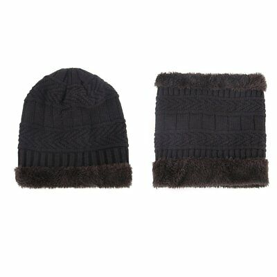 Winter Baby Warm Set Thickened Hat Bib Two-Piece Set Outdoor Ear Protection AB
