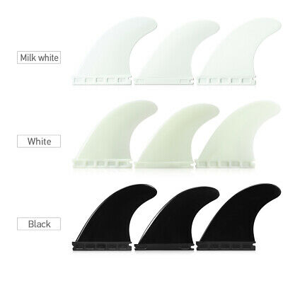 3 Packs Future Tri Fin 4.37'' Surfing Surfboard Fins FCS Thruster S0I0