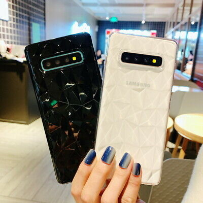 Shockproof Diamond Pattern Clear Thin Soft Case Cover For Samsung Galaxy S10+ S9