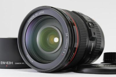 【Near Mint】Canon EF 24-105mm f/4 IS L AF USM Lens w/Hood EW-83H from Japan 1507