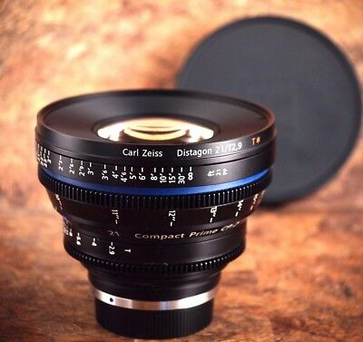 ZEISS CP.2 Distagon 21mm T2.9 T* Lens For Canon EF - Feet Scale - Mint