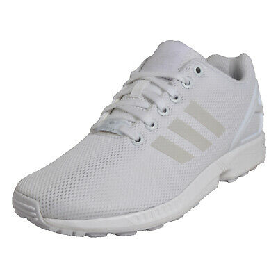 74ab0acfe Adidas Originals ZX Flux Uni Classic Casual Retro Trainers White UK 4 Only