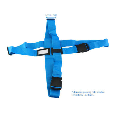 Luggage Bag Backpack Suitcase Secure Belt Cross Packing Strap for Travel