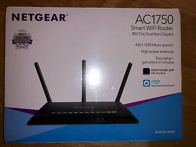 NEW SEAL NETGEAR AC1750 Smart WiFi Dual Band Gigabit 4-Port Router  R6400-100NAS