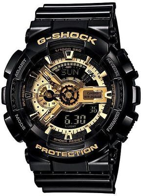 Casio G-Shock Black and Gold GA110GB-1A Wrist Watch