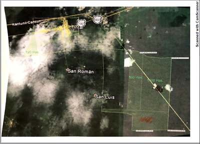 Land clear title 3706 acres (1500ha) in between Playa del Carmen and Cancun, MEX