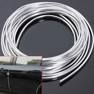 1pc 6M Chrome Moulding Trim Strip Car Door Edge Scratch Guard Protector Cover AZ