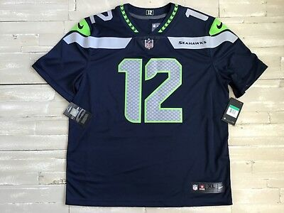Nice MENS NIKE 12TH Man Fan Dri Fit Vapor Untouchable Limited Seahawks  free shipping