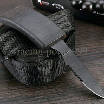 Nylon-Belt Blade Knife Fixed Tactical Camping Survival Urgency Saber Outdoor