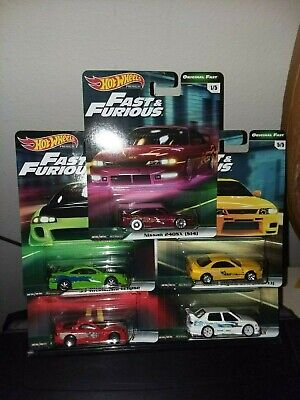 Hot Wheels 2019 Premium Fast & Furious  Case B Complete Set,   Free Ship