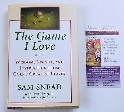 Sam Snead Book Signed The Game I Love 1st Edition HC/DJ JSA COA Not Personalized