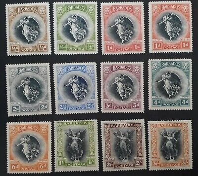 RARE 1920-21 Barbados  set of 12 Victory stamps Mint