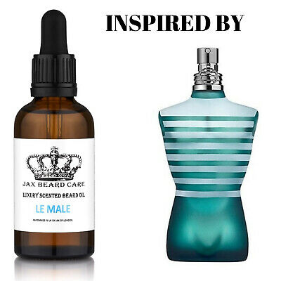 Le Male Inspired Beard Oils. For Growth, Conditioning, Fuller Beard, 8 Scents