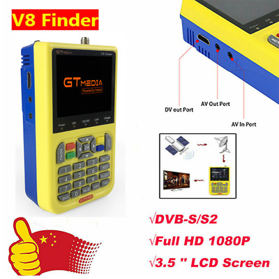GTMEDIA 3.5''LCD V8 Finder HD DVB-S2 Digital Satellite Finder Powered by Freesat
