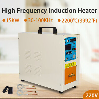 220V 15KW 30-100 KHz High Frequency Induction Heater Heating Furnace Machine