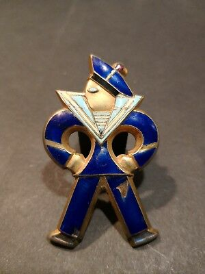Insigne Badge Militaire Marin EOLE Laiton Email WW2