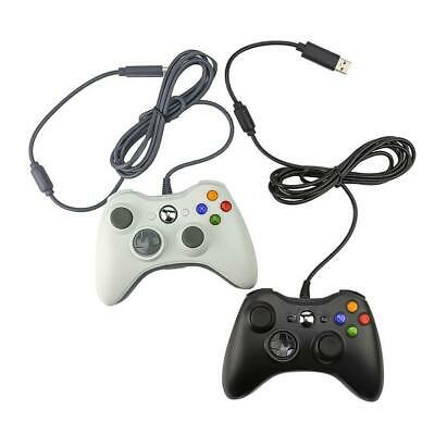 New USB Wired Game Pad Controller for Microsoft Xbox 360 PC Windows Black White