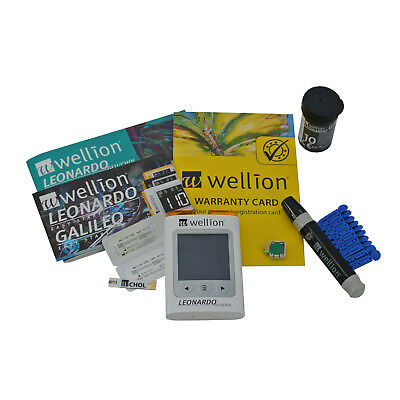 Cholesterol Blood Test Kit - Starter Pack includes Meter, Lancets, Strips & Case