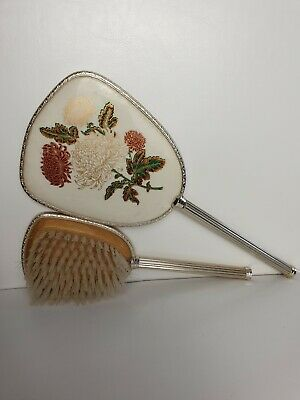 Brush and mirror set Made in England Vintage