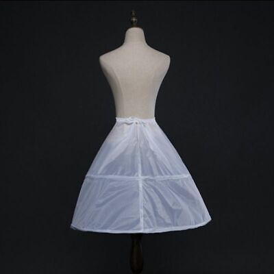 2 Hoops 1 Layer Wedding Bridal Underskirt Petticoat Skirt Slip White Crinoline