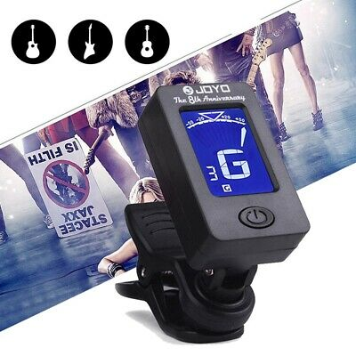 Digital Chromatic LCD Electric Clip Tuner For Bass Guitar Ukulele Violin I1N3A