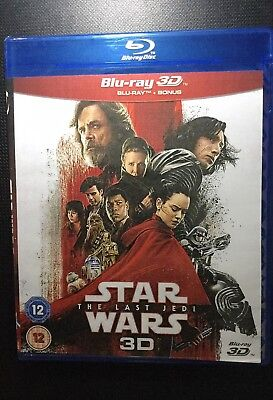 Star Wars: Episode VIII - The Last Jedi 3D Blue-Ray  **REGION FREE** 2018