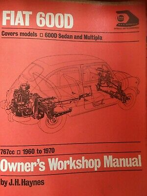 Fiat 600D Owners Workshop Manual 1960-1970 Brand New in Wrapper