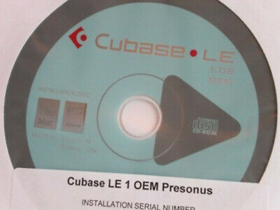 Cubase LE 1.08 DAW recording software from Steinberg