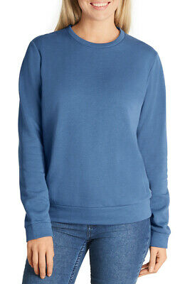 Bonds Ladies Fleece Pullover Jumper sizes XS Small Medium Large XL Colour Denim