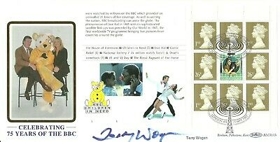 75 yrs of BBC First Day Cover signed by the late Terry Wogan