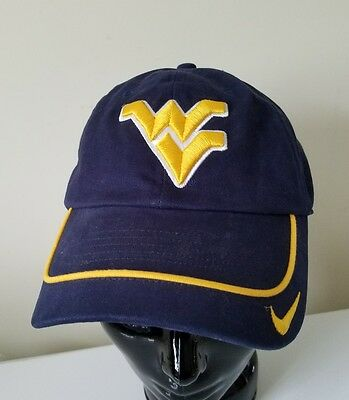 Nike West Virginia University Mountaineers WVU Cap Hat Vintage Embroidered 3-D