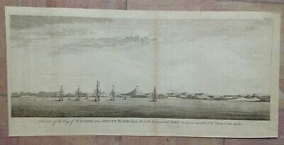 ST JULIAN'S BAY PATAGONIA 1749 by GEORGE ANSON LARGE ANTIQUE ENGRAVED VIEW