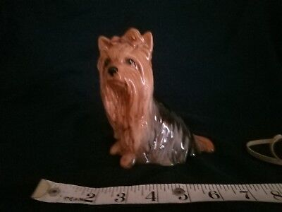 "Ceramic Yorkshire Terrier Dog, by Sylva Ceramics, approx 5.5"" high, 5"" long"