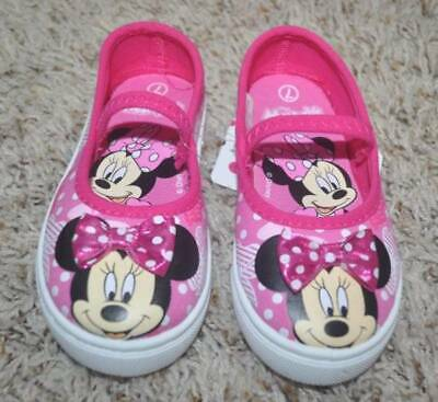 5f1fda77012 Toddler Girls Disney Minnie Mouse Pink Maryjane Canvas Sneakers Shoes-size  7   8