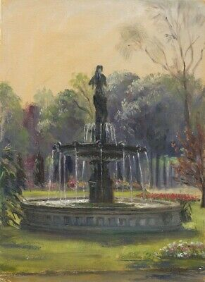 E.P. Corin, Fountain of Diana, Champs-Élysées - Early 20th-century oil painting