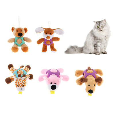Pet Sound Chew Toys Cartoon Toy for Dogs Puppy Cats Kitten Plush & Rubber