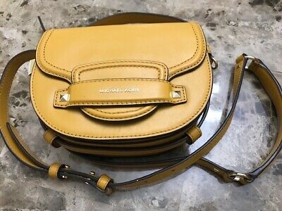2ad3ae53428f NWT MICHAEL KORS Cary Small Grommeted Suede Bucket Bag Marigold ...