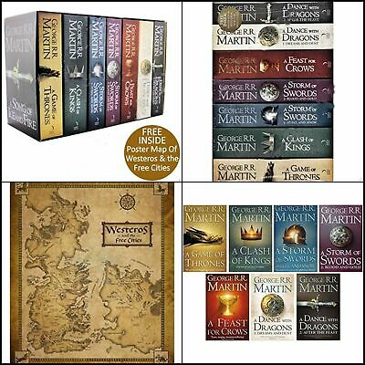 George R.R. Martin: A Game of Thrones Song of Ice and Fire 7 Volume Book Set new