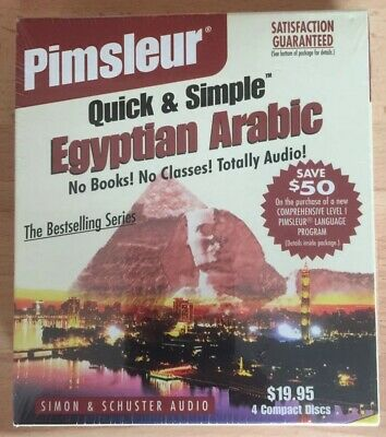 Pimsleur Quick And Simple Eygptian Arabic 4 CD's Sealed