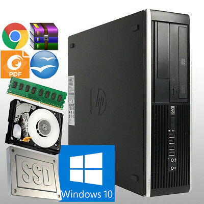 Fast Hp Dual Core Sff Computer Customize Ram Hdd & Ssd Windows 10 Pc