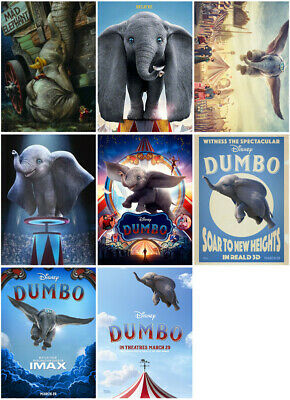 Dumbo Movie 2019 Mirror Surface Postcard Poster Promo Card 23eURISERS